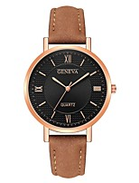 cheap -Geneva Women's Wrist Watch Chinese New Design / Casual Watch / Cool Leather Band Casual / Fashion Black / Brown / Grey