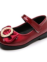cheap -Girls' Shoes PU(Polyurethane) Spring & Summer Comfort / Flower Girl Shoes Flats Walking Shoes Bowknot / Magic Tape for Teenager Gold / Pink / Burgundy