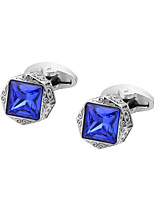 cheap -Geometric Silver Cufflinks Copper Classic / Vintage Men's Costume Jewelry For Gift