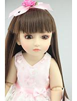 Недорогие -NPKCOLLECTION Кукла с шаром / Блайт Кукла Девушка из провинции 18 дюймовый Полный силикон для тела / Винил - как живой, Искусственная имплантация Коричневые глаза Детские Девочки Подарок
