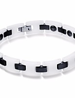 cheap -Men's Stylish / Link / Chain Link Bracelet - Stainless Creative Stylish, Artistic, Casual / Sporty Bracelet White / Black For Daily / Going out