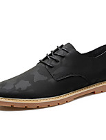 Недорогие -Муж. Полиуретан Весна Удобная обувь Туфли на шнуровке Камуфляж Черный / Серый / Зеленый