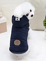 abordables -Roedores / Perros / Conejos Chaquetas de Plumón Ropa para Perro Un Color Gris / Azul Claro Algodón Disfraz Para mascotas Mujer Moda / Euramerican