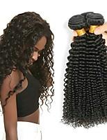 Недорогие -3 Связки Перуанские волосы Kinky Curly Необработанные / Натуральные волосы Подарки / Человека ткет Волосы / Сувениры для чаепития 8-28 дюймовый Естественный цвет Ткет человеческих волос