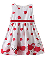 cheap -Kids Girls' Polka Dot / Fruit Sleeveless Dress