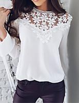 Недорогие -Жен. Блуза Вырез под горло Однотонный