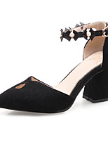 cheap -Women's Shoes PU(Polyurethane) Spring / Fall Comfort / Basic Pump Heels Chunky Heel Black / Beige / Pink