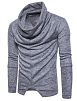 cheap -Men's Pullover - Solid Colored, Ruched