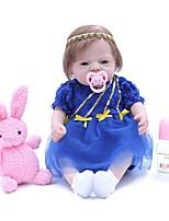 Недорогие -OtardDolls Куклы реборн Девочки 20 дюймовый Полный силикон для тела - как живой, Искусственные имплантации Голубые глаза, Гофрированные и запечатанные ногти Детские Подарок