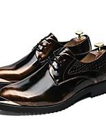 Недорогие -Муж. Наппа Leather Лето Удобная обувь Туфли на шнуровке Золотой / Черный / Серебряный