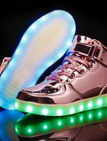 Недорогие -Мальчики / Девочки Обувь Полиуретан Наступила зима Обувь с подсветкой Кеды LED для Золотой / Серебряный / Розовый