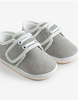 cheap -Girls' Shoes Cotton Spring / Fall First Walkers Flats Magic Tape for Toddler Gray / Pink / Khaki