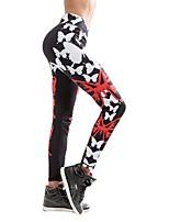 economico -Per donna Pantaloni da yoga Gli sport Fantasia geometrica Calze / Collant / Cosciali Corsa, Fitness, Palestra Abbigliamento sportivo Asciugatura rapida, Traspirabilità, Comodo Media elasticità