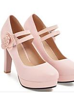abordables -Femme Chaussures Polyuréthane Printemps / Automne Confort / Escarpin Basique Chaussures à Talons Talon Bottier Noir / Beige / Rose