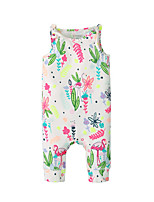 cheap -Baby Girls' Floral Sleeveless Overall & Jumpsuit