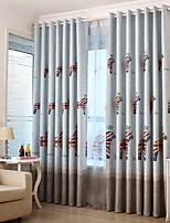 preiswerte -Kindervorhänge Kinderzimmer Cartoon Design Baumwolle / Polyester Bedruckt