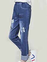 baratos -Infantil Para Meninas Estampado Jeans