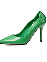 cheap -Women's Shoes Nappa Leather Spring Comfort Heels Stiletto Heel Black / Green / Pink
