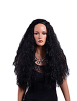 cheap -Synthetic Wig Wavy Middle Part Synthetic Hair Party / Synthetic / Ombre Hair Black Wig Women's Mid Length Capless / African American Wig / Yes / For Black Women