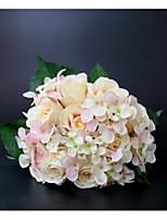 baratos -Bouquets de Noiva Buquês / Decorações Casamento / Festa de Casamento Flôr Seca / Renda / Botão de flor 11-20 cm