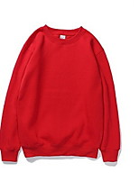 cheap -Men's Long Sleeve Sweatshirt - Solid Colored