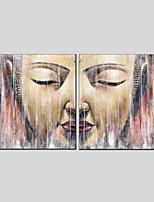 Недорогие -Hang-роспись маслом Ручная роспись - Религиозная тематика Modern холст