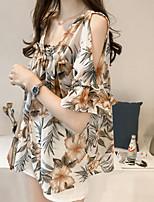 abordables -Tee-shirt Femme, Géométrique - Coton Col Carré