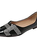 cheap -Women's Shoes PU(Polyurethane) Summer Comfort Flats Flat Heel Pointed Toe Black / Beige / Red