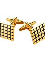 baratos -Cúbico Prata / Dourado Botões de Punho Cobre Formal Homens Jóias de fantasia Para Presente / Diário