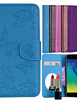 Недорогие -Кейс для Назначение OPPO A57 Бумажник для карт / Флип / С узором Чехол Однотонный / Бабочка Твердый Кожа PU для OPPO A57