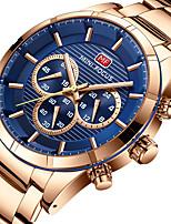 Недорогие -MINI FOCUS Жен. Спортивные часы Японский Хронометр / Фосфоресцирующий / Cool Нержавеющая сталь Группа Роскошь / На каждый день Серебристый металл / Розовое золото