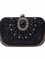 cheap -Women's Bags Polyester Evening Bag Crystals Black / Almond