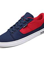 cheap -Men's PU(Polyurethane) Fall Comfort Sneakers Color Block White / Black / Blue