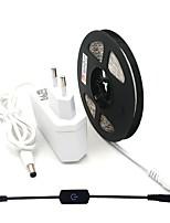 baratos -ZDM® 5m Conjuntos de Luzes 300 LEDs 1 x adaptador de energia 2A / 1 x interruptor de dimmer Branco Quente / Branco Frio Cortável / Auto-Adesivo 12 V 1pç