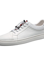 cheap -Men's Nappa Leather Spring Comfort Sneakers White / Black