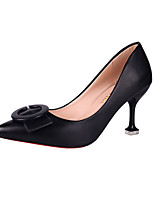 cheap -Women's Shoes PU(Polyurethane) Fall Basic Pump Heels Stiletto Heel Pointed Toe Black / Beige / Red / Party & Evening