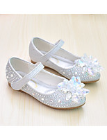 cheap -Girls' Shoes Faux Leather Spring &  Fall Comfort / Flower Girl Shoes Flats for Silver / Pink