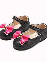 cheap -Girls' Shoes PU(Polyurethane) Spring & Summer Comfort / Flower Girl Shoes Flats Walking Shoes Bowknot / Magic Tape for Toddler Black / Pink