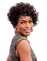 cheap -Synthetic Wig Curly Asymmetrical Haircut Synthetic Hair Synthetic Brown Wig Women's Short Capless