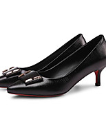 cheap -Women's Shoes Nappa Leather Spring / Fall Comfort / Basic Pump Heels Stiletto Heel Black / Red