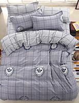 abordables -Sets Funda Nórdica Geométrico 100% algodón Estampado reactivo 4 Piezas