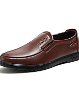cheap -Men's PU(Polyurethane) Fall Comfort Loafers & Slip-Ons Black / Brown