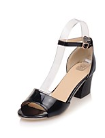 cheap -Women's Shoes PU(Polyurethane) Spring & Summer Comfort Heels Chunky Heel White / Black / Pink