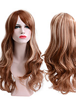 cheap -Synthetic Wig Wavy Middle Part Synthetic Hair Party / Classic / Synthetic Brown Wig Women's Long Capless / Yes