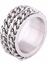 cheap -Men's Stylish Band Ring - Titanium Steel, Stainless Creative Punk, European, Trendy 6 / 7 / 8 Silver For Street / Going out
