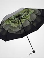 Недорогие -Полиэстер / Нержавеющая сталь Жен. Солнечный и дождливой Складные зонты