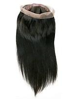 Недорогие -Бразильские волосы 360 Лобовой Прямой Бесплатный Часть Швейцарское кружево Натуральные волосы Жен. Лучшее качество / Новое поступление / 100% девственница Рождество / Новогодние подарки / Свадьба