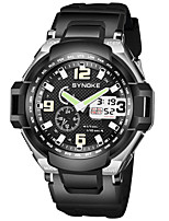 cheap -SYNOKE Men's Sport Watch / Digital Watch Calendar / date / day / Chronograph / Water Resistant / Water Proof PU Band Fashion Black / Stopwatch / Noctilucent