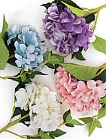 Недорогие -Искусственные Цветы 1 Филиал Классический Ретро / европейский Гортензии Букеты на стол