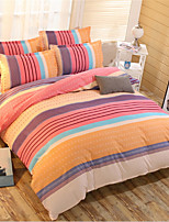preiswerte -Bettbezug-Sets Stripes / Ripples Polyester Applikation 3 Stück
